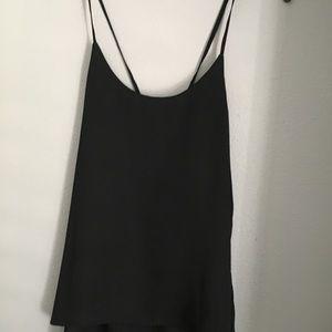 New! Size Small! ANGL Black spaghetti strap top